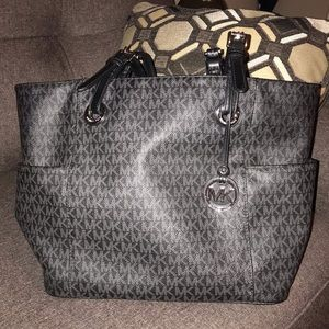 Michael Kors Black Monogram Tote